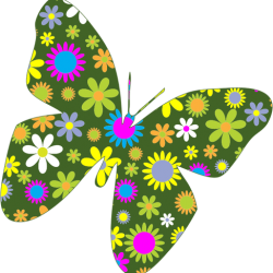 Retro-Floral-Butterfly
