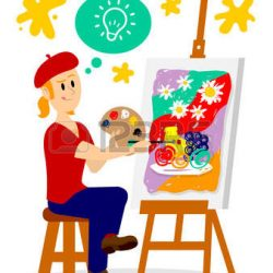 57577108-artist-painting-his-masterpiece-clipart