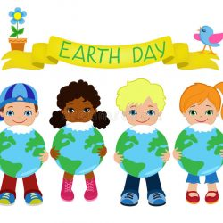 happy-children-celebrate-earth-day-ecology-elements-you-can-use-66049831