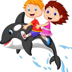 23006443-cartoon-boy-and-girl-riding-orca-